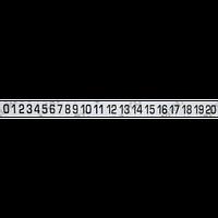 Набор магнитов – цифровой ряд – 2000x150 мм