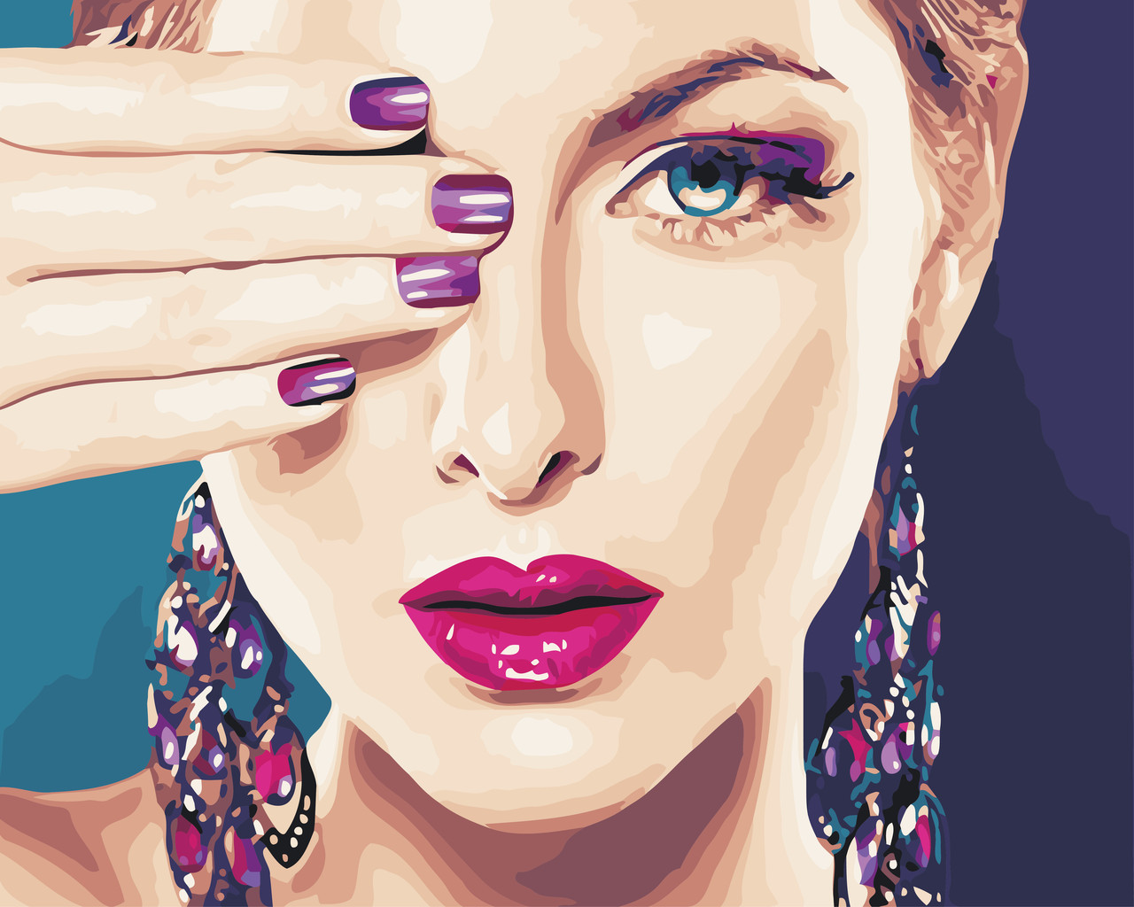 Картина по номерам Вечерний макияж 40 х 50 см (AS0572)