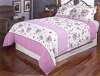 Півтораспальний постільний комплект - Роза горошок