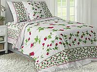 Двоспальний постільний комплект - Червона троянда на білому