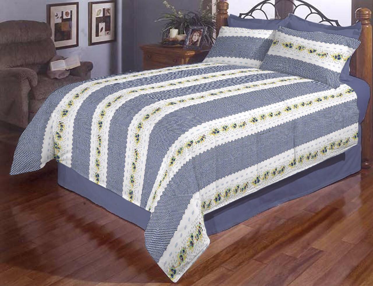 Півтораспальний постільний комплект - Вишиванка в смужку