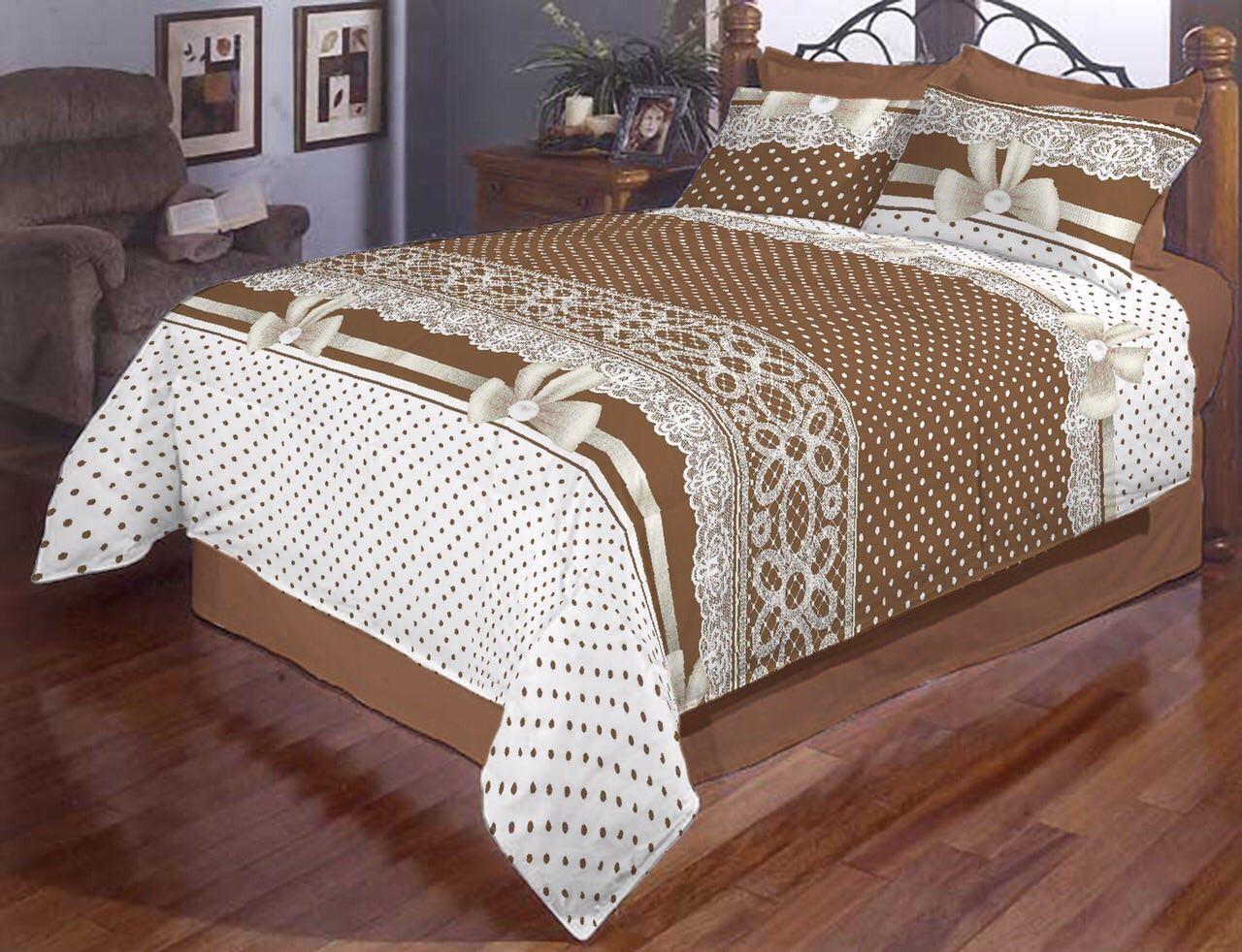 Півтораспальний постільний комплект - Бантик горошок