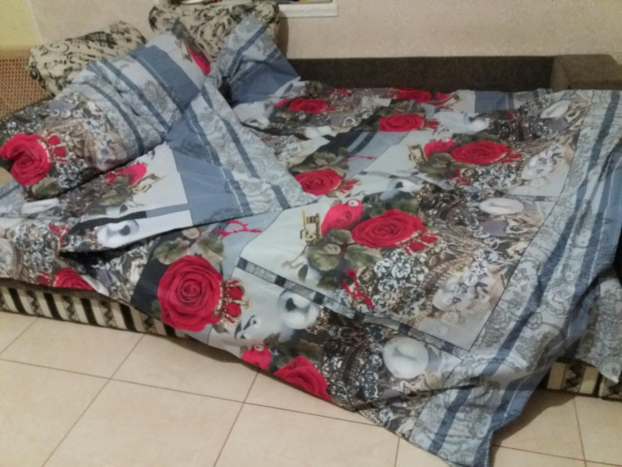 Півтораспальний постільний комплект - Царська роза