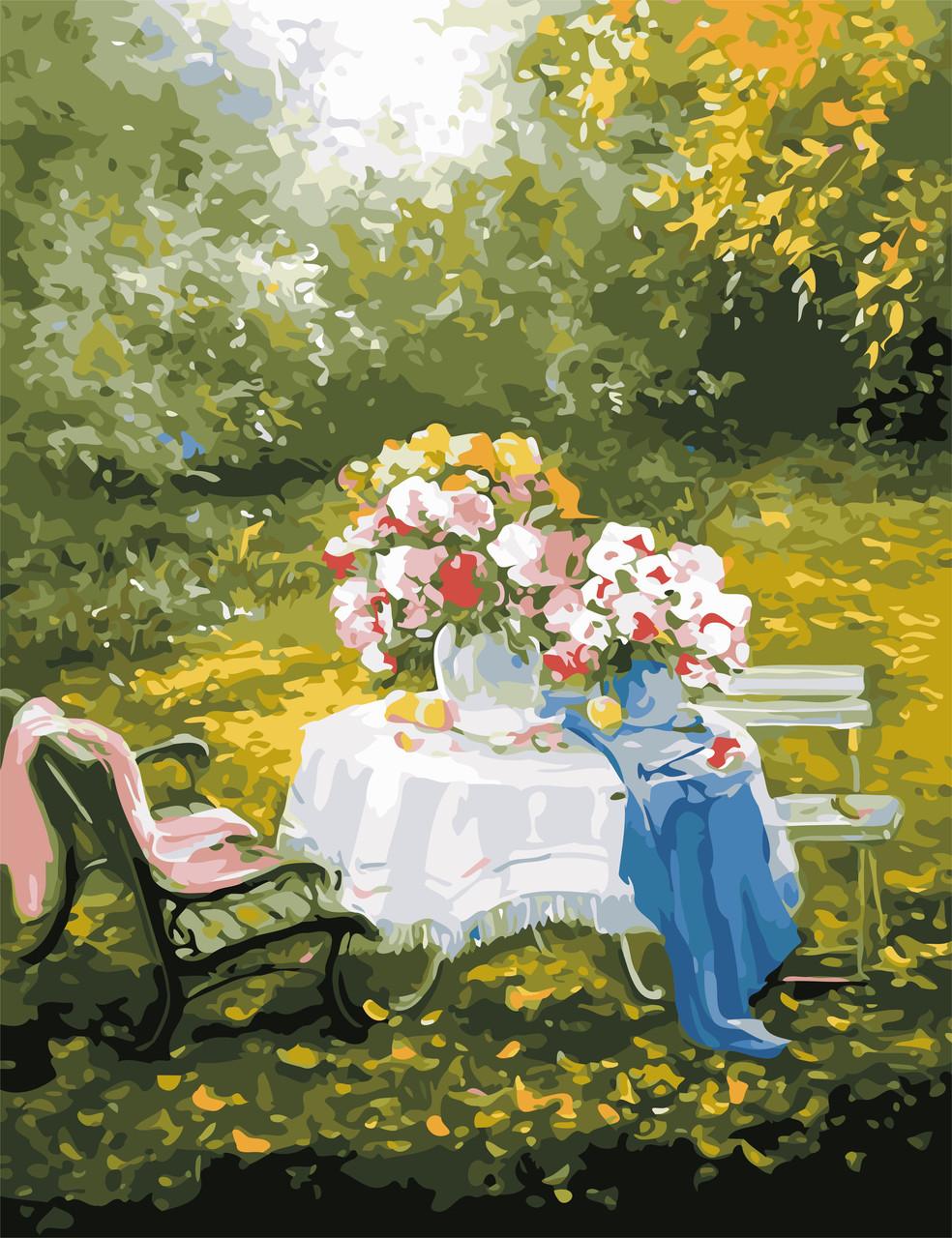 Картина по номерам Отдых в саду 50 х 65 см (AS0649)