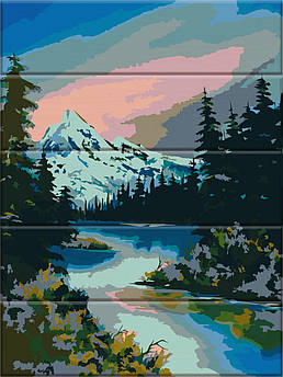 Картина по номерам Горная река 30 х 40 см (ASW041)