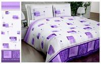 Півтораспальний постільний комплект - Квадрати фіолетові