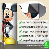 Магнитная наклейка на холодильник Микки Маус Детская наклейка, виниловый магнит, 600*1800 мм, Лицевая