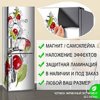 Магнитная наклейка на холодильник (виниловый магнит) Реставрация холодильника, 600*1800 мм, Лицевая