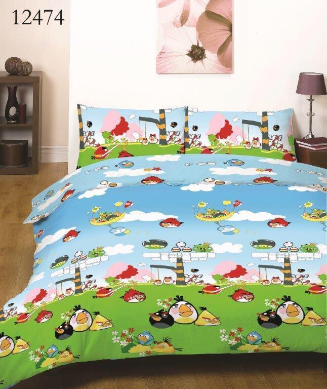 Дитяча постільна білизна - Angry Birds