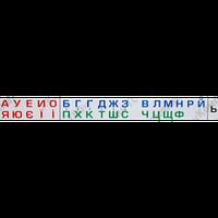 Набор - магнитный алфавит – 2000x200 мм