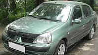 Дефлектор капота Рено Клио (мухобойка на капот Renault Clio)