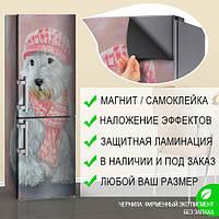Магнитная наклейка на холодильник (виниловый магнит) Пленка для оклейки холодильника, 600*1800 мм, Лицевая
