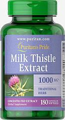 Puritan's Pride Milk Thistle 4:1 Extract 1000 mg, Силімарин (180 кап)