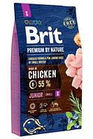 Brit Premium Dog Junior S для щенков и молодых собак маленьких пород 3кг