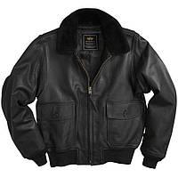 Кожаная летная куртка G-1 Leather Jacket Alpha Industries (черная)