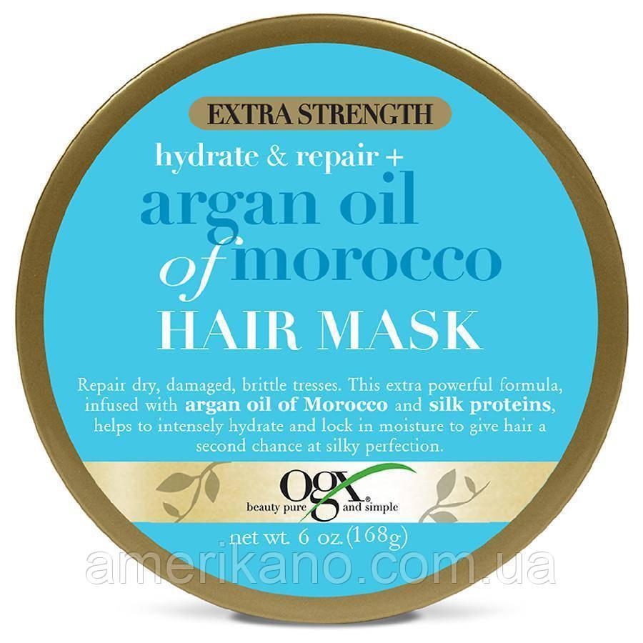 Восстанавливающая аргановая маска для волос OGX Argan Oil Of Morocco Hydrate & Repair Hair Mask