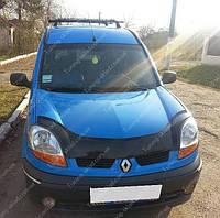 Дефлектор на капот Рено Кангу 2003-2008 (мухобойка на капот Renault Kangoo)
