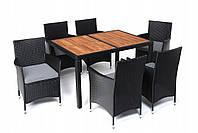 Садовая мебель стол+6 стульев ПОЛЬША НОВАЯ