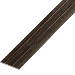 Ламинированный профиль,порог арт.П-6 (227) 28х3 мм венге