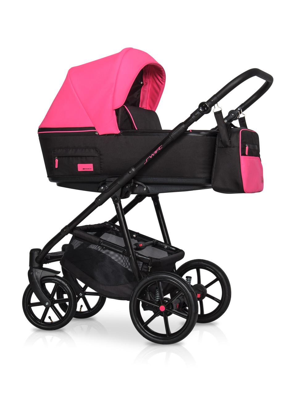 Детская универсальная коляска 2 в 1 Riko Swift Neon 22 Electric Pink