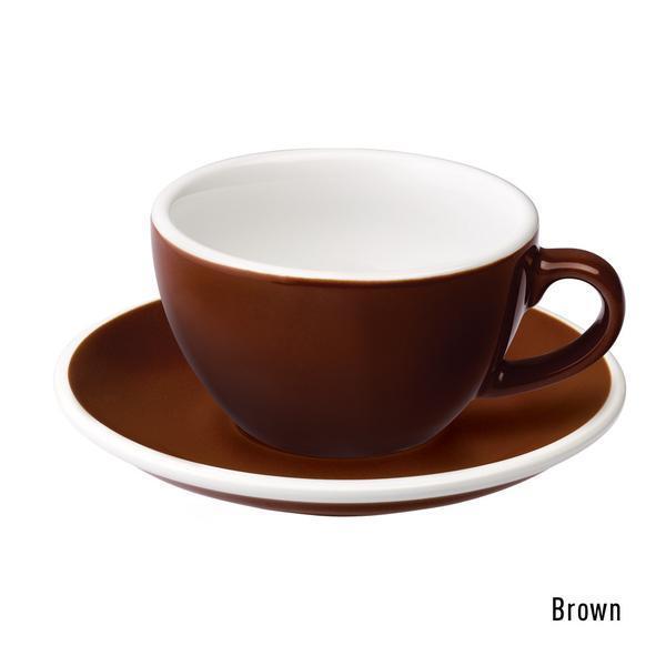 Набір чашка та блюдце для латте  Loveramics Egg 200ml Café Latte Cup & Saucer Brown