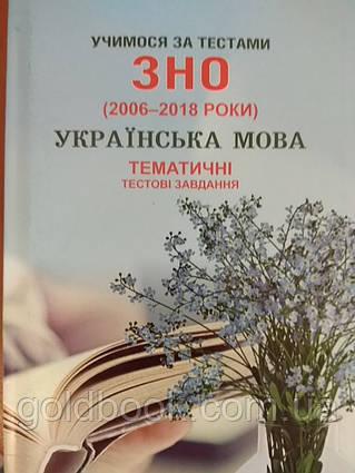 Українська мова ЗНО і ДПА тематичні тестові завдання