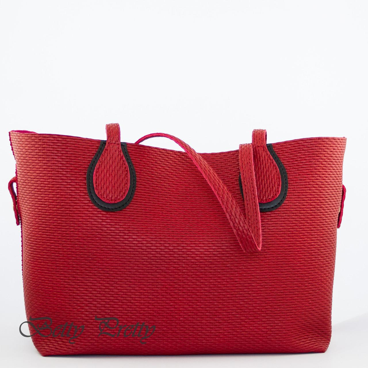 Сумка-шопер жіноча з екошкіри Betty Pretty червона 869561630