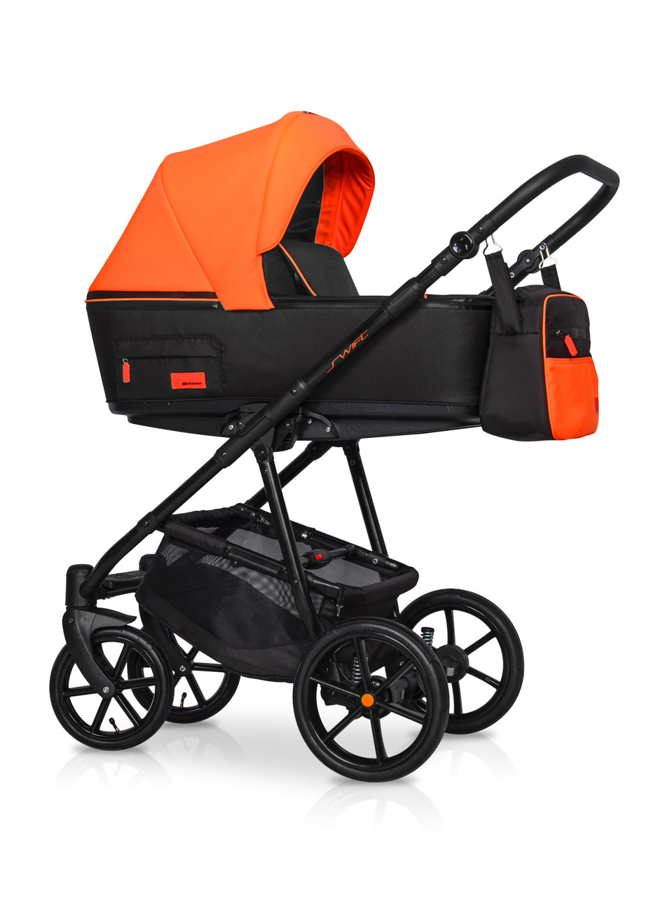 Дитяча універсальна коляска 2 в 1 Riko Swift Neon 24 Party Orange