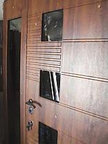 Входная дверь двух створчатая 1500мм модель П5-500  vinorit-90 СТЕКЛА, фото 3