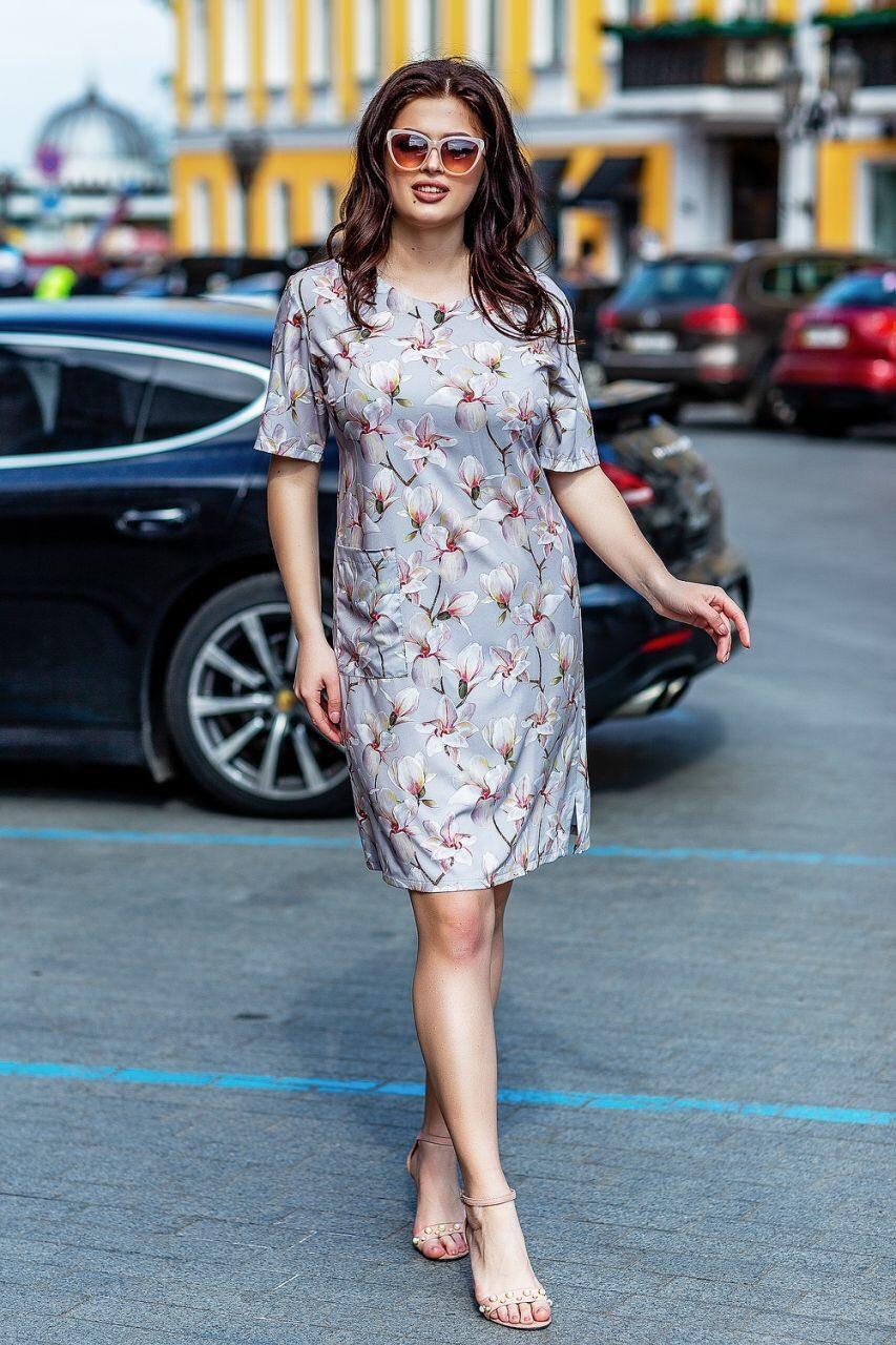 """Прекрасное женское платье ткань """"Софт"""" 58 размер батал"""