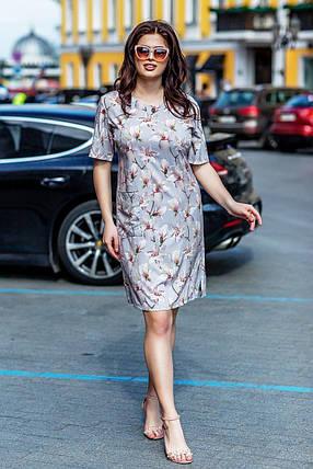 """Прекрасное женское платье ткань """"Софт"""" 58 размер батал, фото 2"""
