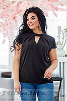Летняя блузка для полных черная, фото 1