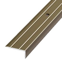 Алюминиевый профиль,порог арт. 316 23,5х9х1800 мм старая бронза, фото 2