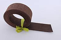 Полосы натуральной кожи для ремней и ошейников не обработанные коричневые, толщина 3.5 мм, арт. СКУ 9002.1661