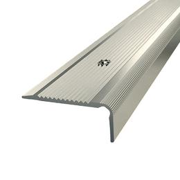 Алюминиевый профиль,порог арт. 437 40х20х1800 мм серебро, фото 2