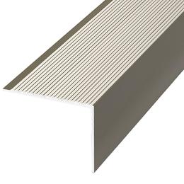 Алюминиевый профиль,порог арт. П19 35х35х2700 мм серебро, фото 2