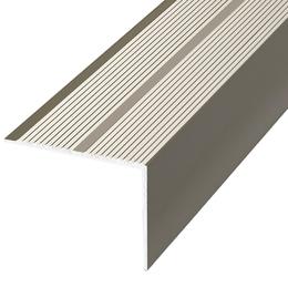 Алюминиевый профиль,порог арт. П20 40х20х2700 мм серебро, фото 2