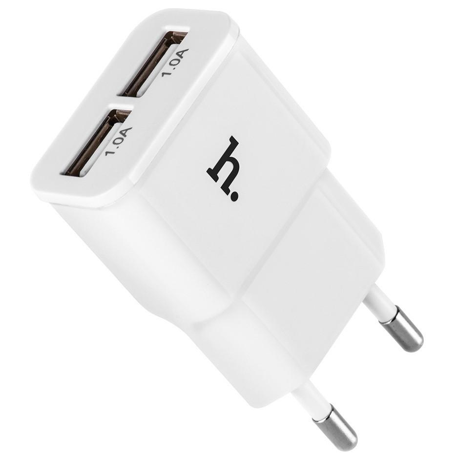 Сетевое зарядное устройство Hoco UH202 (2USB 2.1А) White