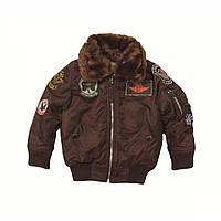 Детская куртка Maverick Jacket Alpha Industries  (коричневая)