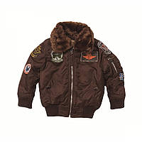 Детский бомбер Alpha Industries Boys Maverick Jacket YJM40105C1 (Cocoa)