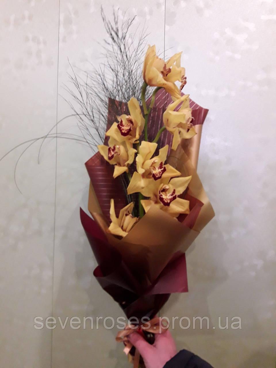 Букет из Орхидеи №6  Желтая