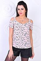 Модная молодежная блуза,ткань летний софт-принт,размеры:44,46,48,50,52., фото 1