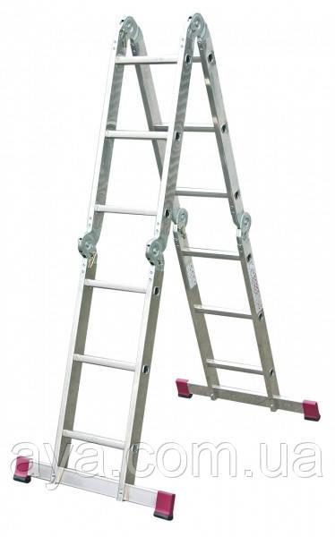 Шарнирная универсальная лестница KRAUSE Corda MultiMatic 4 x 3
