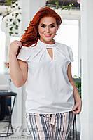 Летняя блузка для полных белая, фото 1