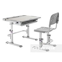 Детская парта и стул, парта-трансформер Cubby DISA, серая