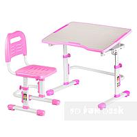 Детская парта и стул, парта-трансформер Vivo II розовый FUNDESK, фото 1