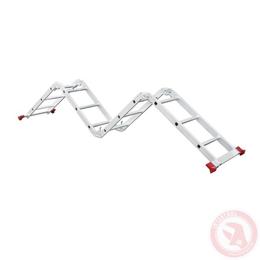 Лестница алюминиевая мультифункциональная трансформер 4x3 ступ., 3,50 м INTERTOOL LT-0030, фото 2