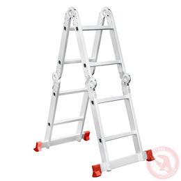 Лестница алюминиевая мультифункциональная трансформер 4*2 ступ. 2.38м INTERTOOL LT-0028, фото 2