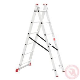 Лестница алюминиевая 2-х секционная универсальная раскладная 2x6 ступ. 2,57 м INTERTOOL LT-0206