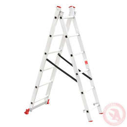 Лестница алюминиевая 2-х секционная универсальная раскладная 2x6 ступ. 2,57 м INTERTOOL LT-0206, фото 2